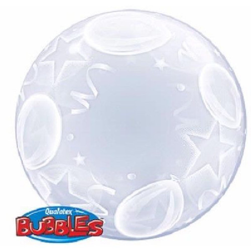 Balloons & Hearts Deco Bubble Balloon 24in