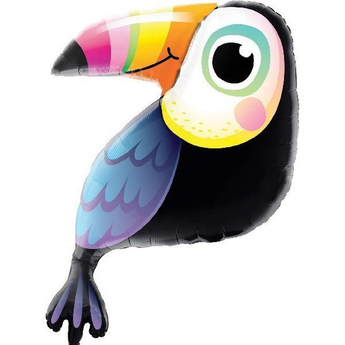 Colorful Toucan 41in Jumbo Foil Balloon