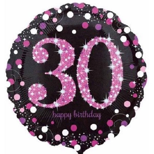30th Gold Sparkles 18 Inch Foil Balloon