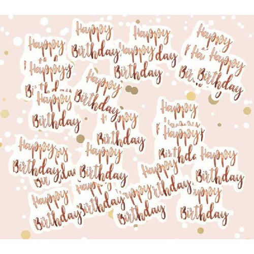 Big Size Rose Gold Birthday Confetti