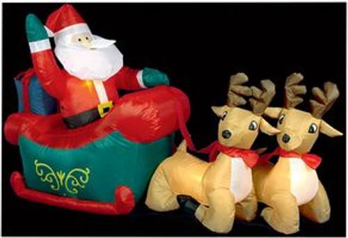 1.2m Santa, Sleigh & Reindeer Hire