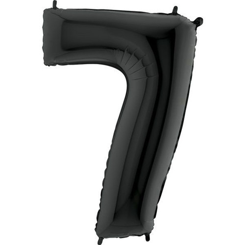 Black Number 7 Jumbo Foil Balloon 40in