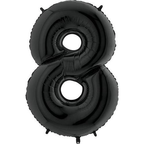 Black Number 8 Jumbo Foil Balloon 40in