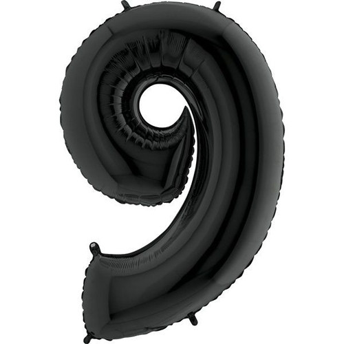 Black Number 9 Jumbo Foil Balloon 40in