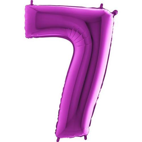 Purple Number 7 Jumbo Foil Balloon 40in