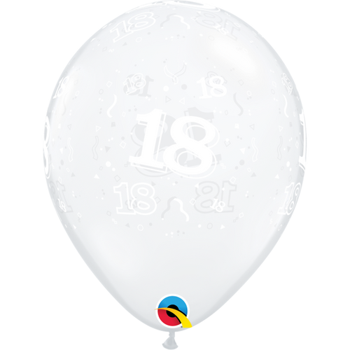 18th Clear A Round Balloon 11in