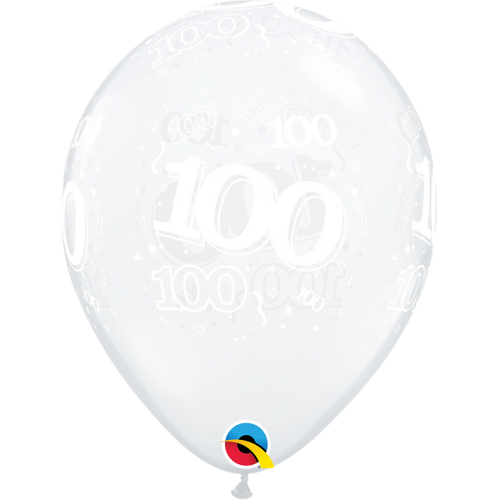 100th Clear A Round Balloon 11in