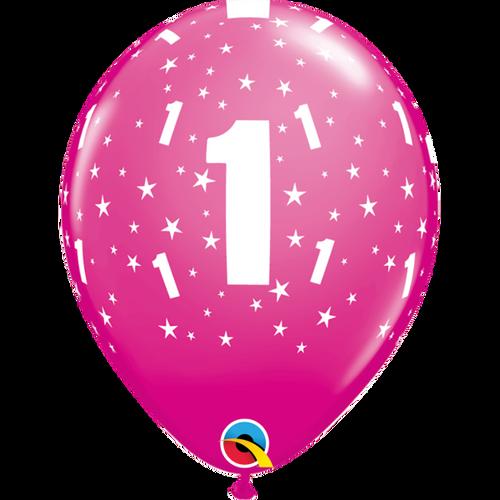 1 Wild Berry Stars A Round Balloon 11in