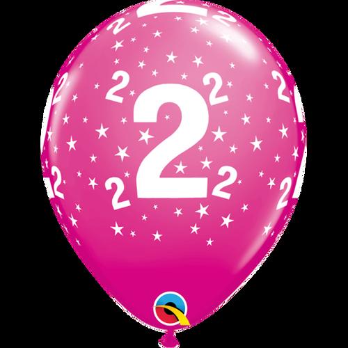 2 Wild Berry Stars A Round Balloon 11in