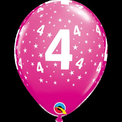 4 Wild Berry Stars A Round Balloon 11in