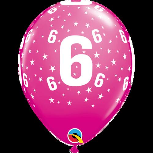 6 Wild Berry Stars A Round Balloon 11in