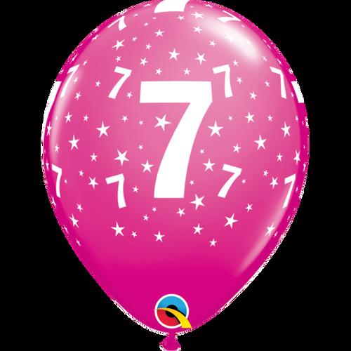 7 Wild Berry Stars A Round Balloon 11in