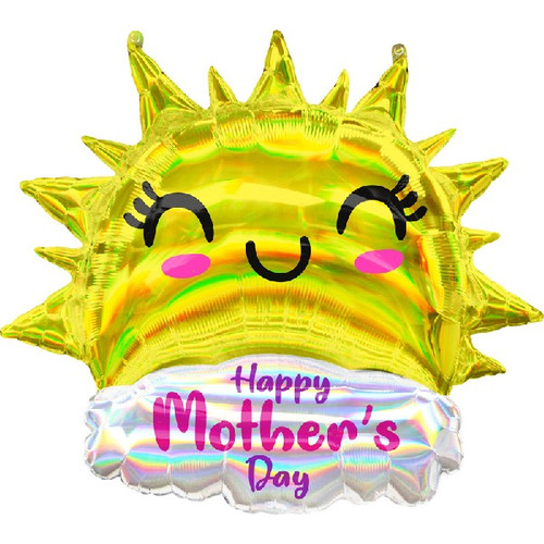 Iridescent Happy Sun Mothers Day Supershape Foil