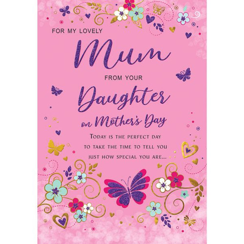Mum From Daughter Mothers Day Card