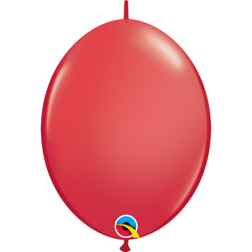 "Qualatex 12"" Quick Link Red Balloon"