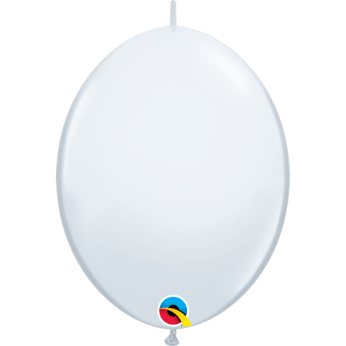 "Qualatex 12"" Quick Link White Balloon"