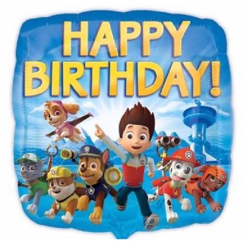 Paw Patrol Happy Birthday 18in Foil Balloon