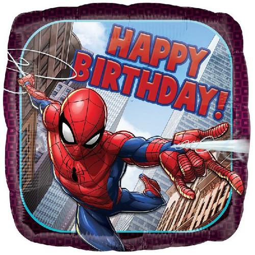 Happy Birthday Spiderman 18 Inch Foil Balloon