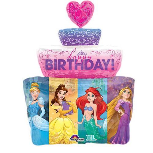 Disney Princess Cake Supershape Foil Balloon