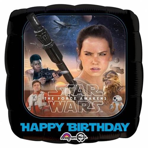 Star Wars Happy Birthday Square 18in Foil Balloon