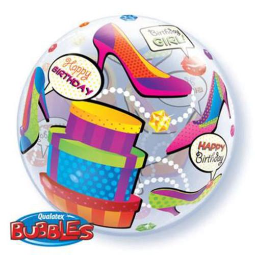 Birthday Girl Shopping Spree Bubble Balloon