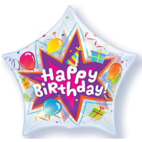 Star Birthday Party Blast Deco Bubble Balloon