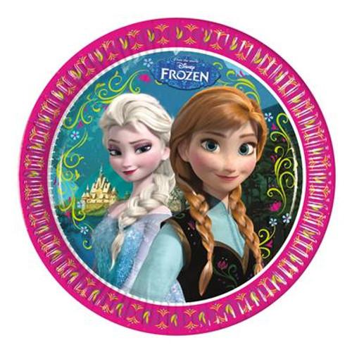 Frozen 23cm Plates - 8 Pack