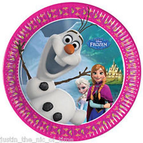 Olaf Frozen Paper Plates 10.5cm Plates - 8 Pack