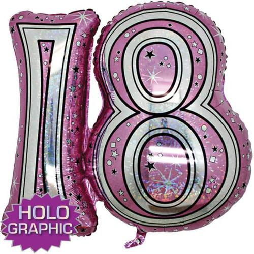 18th Pink Foil Balloon