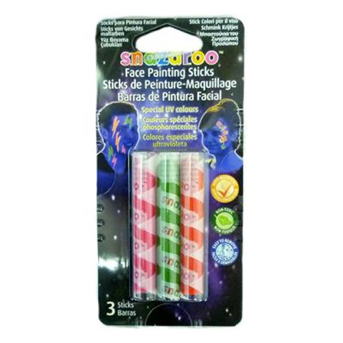 Snazaroo UV Face Painting Sticks - 3 Pack