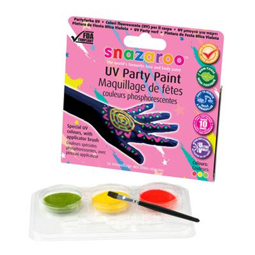 Uv Party Paint 3 Colour Kit