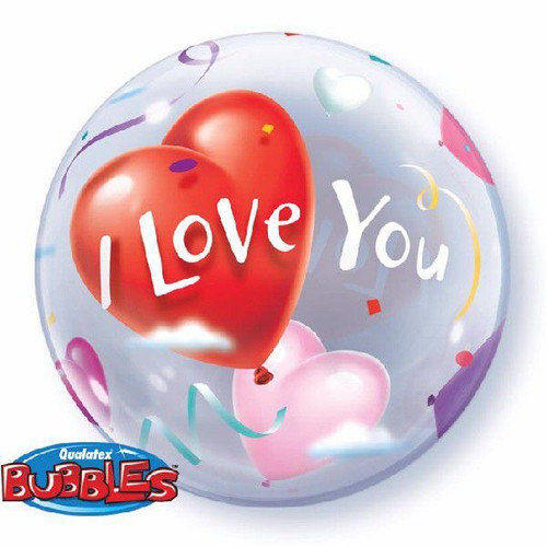 I Love You 22in Bubble Balloon