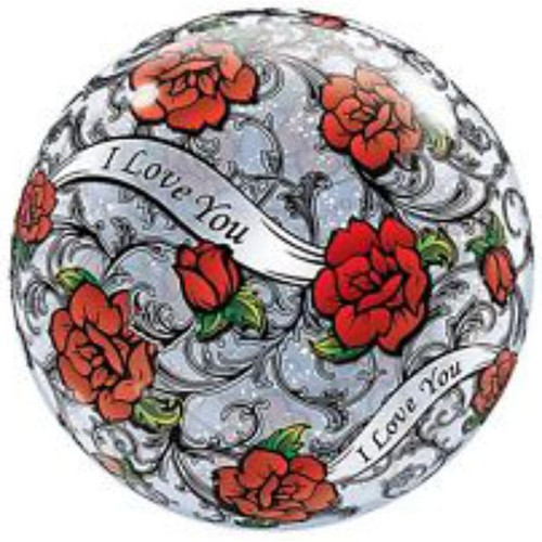 Roses I Love You 22in Bubble Balloon