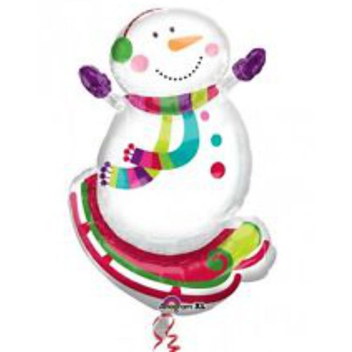 Snowman Supershape Foil Balloon