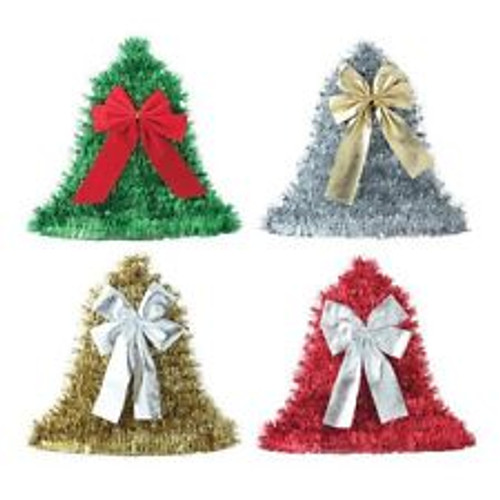 Bell Tinsel Wall Plaque