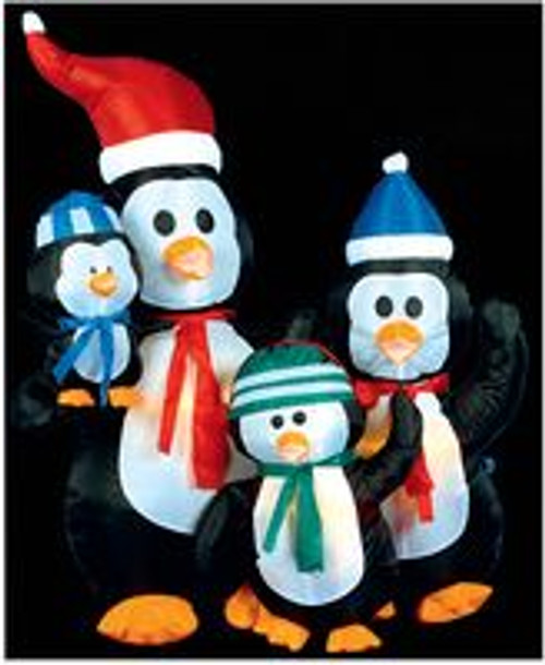 1.2m Inflatable Penguin Family Hire