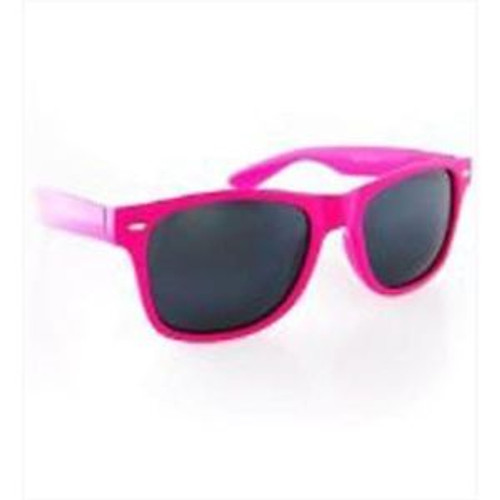 Neon Frame Dark Lens Glasses