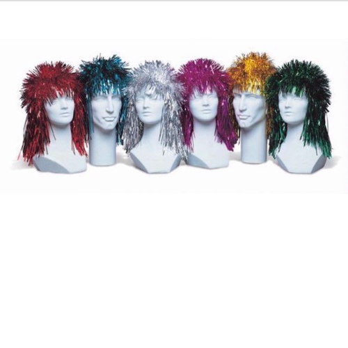 Punk Foil Wig Assorted Colours