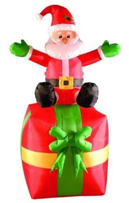 1.8m Inflatable Santa 9n Present Hire
