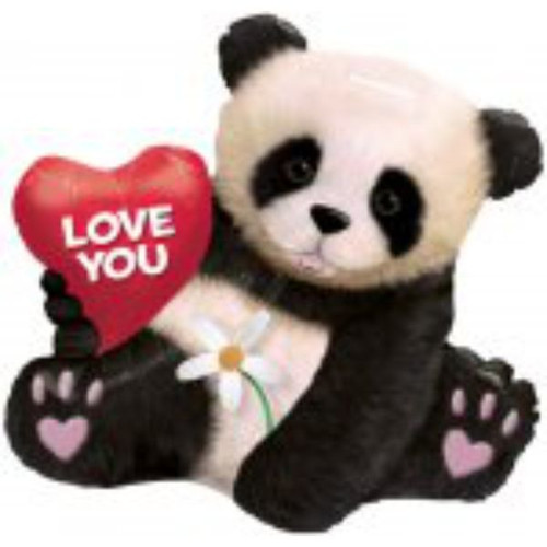 Love You Panda Super Shaped Foil Balloon