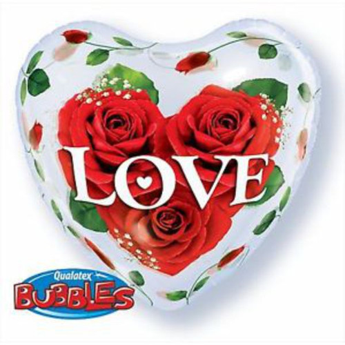 Love Roses 22in Bubble Balloon
