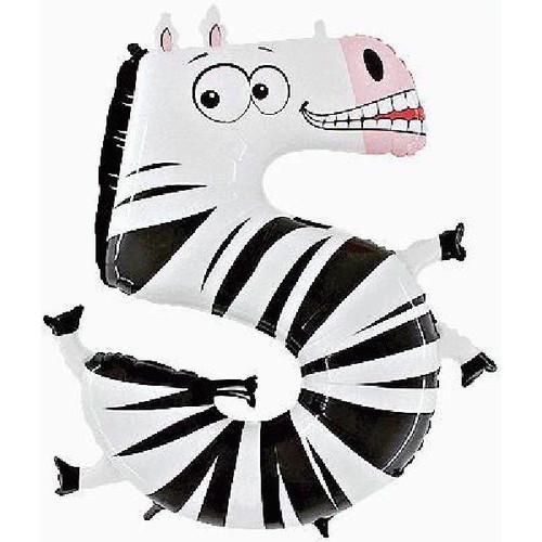 Jumbo Zebra Zooloon Number 5
