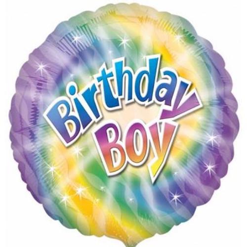 "Birthday Boy Colour 18"" Foil Balloon"