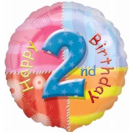"02nd Birthday 18"" Foil Balloon"