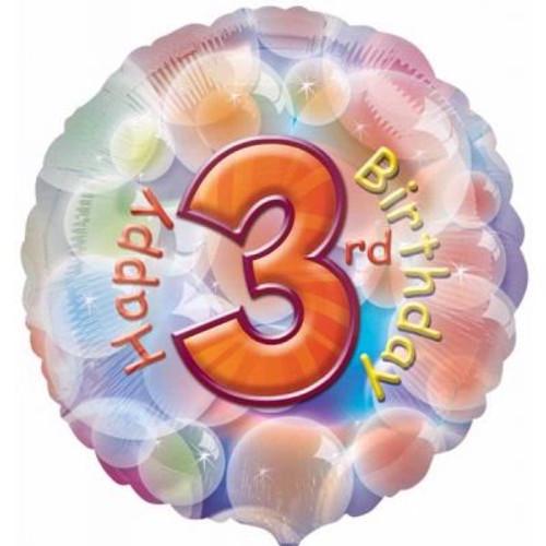 "03rd Birthday 18"" Foil Balloon"