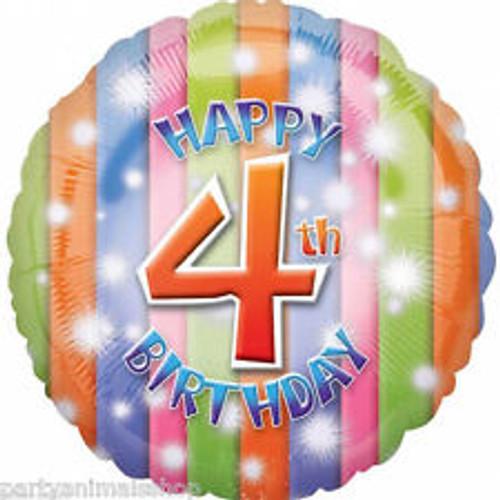 "04th Birthday 18"" Foil Balloon"