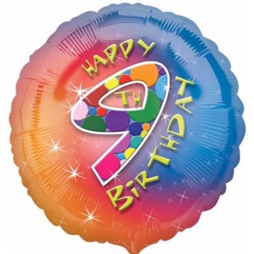"09th Birthday 18"" Foil Balloon"