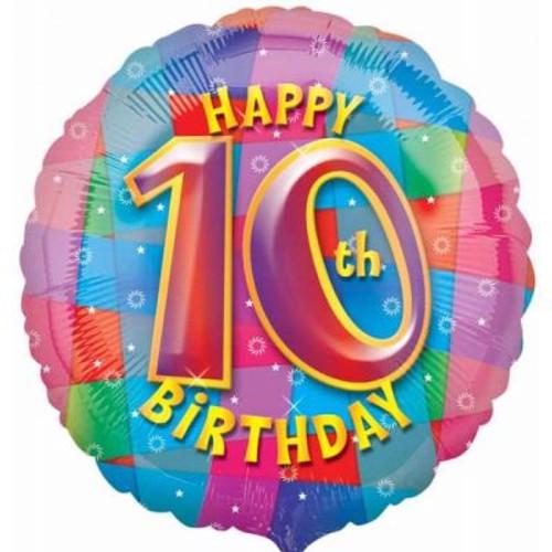 "10th Birthday 18"" Foil Balloon"