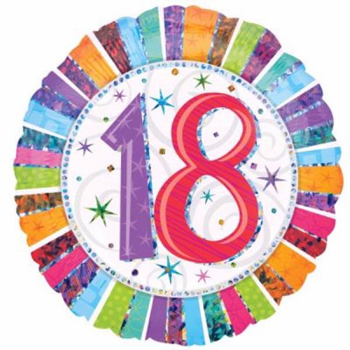 "18th Radiant Birthday 18"" Foil Balloon"