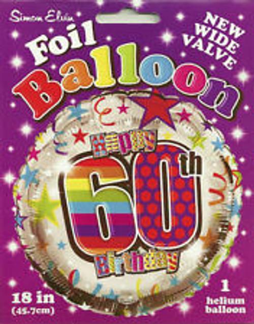 "60th Birthday Unisex 18"" Foil Balloon"